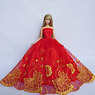 Princess Dresses For Barbie Doll Red / Yellow Dresses