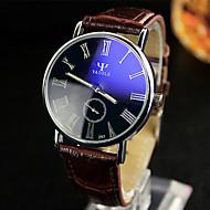 YAZOLE Herren Kleideruhr Armbanduhr Quartz / Leder Band Bequem Schwarz Weiß Rot Braun Weiß Schwarz Braun Rot