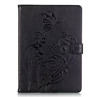 PU leather Material Butterfly Pattern Plate Embossing Protective Case for Apple iPad Air/iPad Air 2