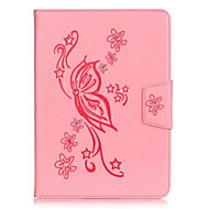 PU Leather Material Butterflies Embossed Rhinestone Tablet Case for iPad Mini 3/2/1