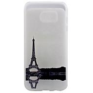 Varten Samsung Galaxy S7 Edge Läpinäkyvä / Kuvio Etui Takakuori Etui Eiffelin torni Pehmeä TPU SamsungS7 edge / S7 / S6 edge plus / S6