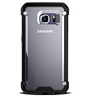 Varten Samsung Galaxy S7 Edge Iskunkestävä / Läpinäkyvä Etui Takakuori Etui Panssari Kova PC Samsung S7 edge / S7 / S6 edge / S6