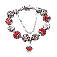 Dame Piger´ Charm-armbånd Strand Armbånd Holdbar Mode Yndig Perler luksus smykker Europæisk Rhinsten Sølvbelagt Imitation Diamond Legering