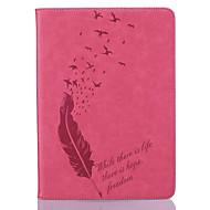 Full Body portfel / Kieszonka na kartę / Other Pióra Skóra PU Měkké Embossed leather Skrzynki pokrywa Dla Apple iPad Air