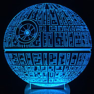 våkner! multi-farget death star bordlampe 3d død stjerne bulbing lys for star wars