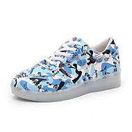 Boy's / Girl's Sneakers Spring / Summer / Fall Round Toe Leatherette Outdoor / Casual Flat Heel Lace-up / LEDBlue / Pink / Gray / Royal