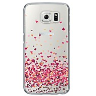 For Samsung Galaxy etui Transparent Mønster Etui Bagcover Etui Hjerte Blødt TPU for Samsung S6 S5 S4