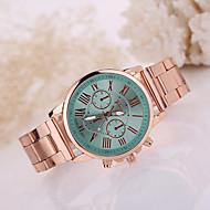 Dames Modieus horloge Kwarts / Roestvrij staal Band Vrijetijdsschoenen Goud Rood Groen Roze Navy Lichtblauw