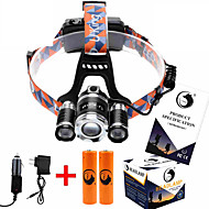 U`King® Headlamps / Headlamp Straps LED 8500ML Lumens 4 Mode Cree XM-L T6 18650Adjustable Focus / Rechargeable / Compact Size / High