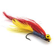 "4 szt Návnady Miękka przynęta Muchy fantom g/Uncja,45 mm/1-3/4"" cal,Pokryte piórami Nylon Stal niestopowaSea Fishing Fly Fishing Fishing"