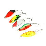 5pcs 2.8cm/3.2g  Spoon Metal Fishing Lures Spinner Baits Multicolored for Your Choice