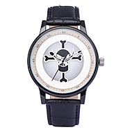 REBIRTH Herre Dame Moteklokke Armbåndsur Unike kreative Watch / Quartz PU Band Kranium Fritid Svart Hvit Lilla