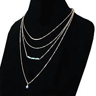 ネックレス チェーンネックレス ジュエリー 日常 / カジュアル ファッション 合金 / ターコイズ ゴールデン 1個 ギフト