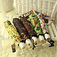 서커스 비닐 접이식 자동 우산 대외 무역 MS. 자외선 차단제 자외선 우산 비닐