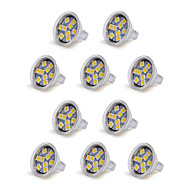 10pcs mr11 9led smd5050 100-150lm 1.5w warm wit / koel wit decoratieve dc 12v