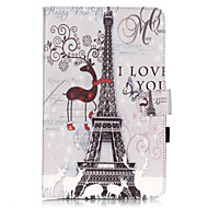 PU Leather Material Tower in Paris Pattern Tablet Sleeve for Galaxy Tab T550/T560