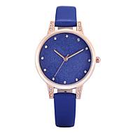 REBIRTH Dame Moteklokke Armbåndsur Imitasjon Diamant Quartz PU Band Vedhend Armband Elegante klokker Fritid Svart Hvit Blå Grå Rosa