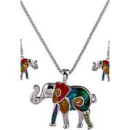 voi Polly Euroopassa ja Yhdysvalloissa persoonallisuus norsu kaulakoru korvakorut asetettu
