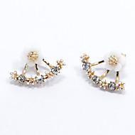 Kolczyki na sztyft Modny minimalistyczny styl Srebro standardowe Flower Shape Stokrotka Gold Silver Różowe złoto Biżuteria NaŚlub Impreza