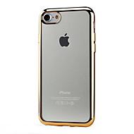 Para Funda iPhone 7 / Funda iPhone 6 / Funda iPhone 6 Plus / Funda iPhone 5 Cromado / Transparente Funda Cubierta Trasera Funda Un Color