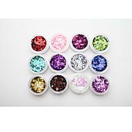 1 Neglekunst klistremerke Negle Smykker Glimmer & Pudder Abstrakt Sminke Kosmetikk Neglekunst Design