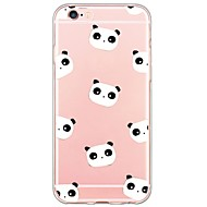 Panda Pattern TPU Ultra-thin Translucent Soft Back Cover for Apple iPhone 6s Plus/6 Plus/ 6s/6/ SE/5s/5