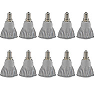 3W E14 LED Spotlight MR16 1 COB 380LM lm Warm White / Cool White Dimmable / Decorative AC 220-240 / AC 110-130 V 10 pcs
