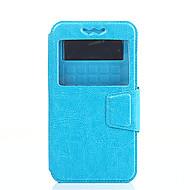 Mert Wiko tok Ütésálló / Betekintő ablakkal / Flip / Ultra-vékeny Case Teljes védelem Case Egyszínű Kemény Műbőr WikoWiko Rainbow / Wiko
