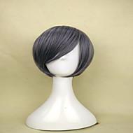 capless popularne sive perika sintetička kratka ravna kosa vlasulja za žene kostim periku