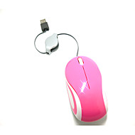 Portable Mini Retractable Cable Optical Notebook Mouse DPI 1000