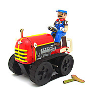 The Tractor Wind-up Toy Leisure Hobby  Metal Red For Kids