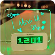 1 stk ledet tilfeldig farge kreativ multifunksjonelle glans message board lampe nattlys