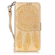 PU Leather Material Embossed Pattern Campanula Mobile Phone Cases for Samsung Galaxy J510/J5/J310/J3