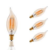 3.5 E12 Lampadine LED a incandescenza B 4 COB 300 lm Ambra Intensità regolabile / Decorativo AC 110-130 V 4 pezzi