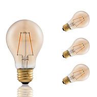 3W E26 フィラメントタイプLED電球 A60(A19) 2 COB 160 lm アンバー 明るさ調整 装飾用 AC 110-130 V 4個