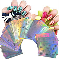 1set 63pcs Nail Art Hollow Stickers Geometric Image Beautiful Mixed Hollow Stickers NJ215