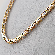 Necklace Chain Necklaces Jewelry Party / Daily / Casual / Sports Vintage Titanium Steel Silver 1pc Gift