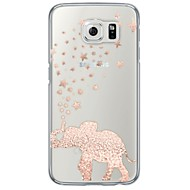 For Samsung Galaxy S7 Edge Transparent Mønster Etui Bagcover Etui Elefant Blødt TPU for Samsung S7 edge S7 S6 edge plus S6 edge S6 S5 S4