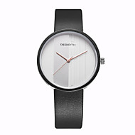 REBIRTH Herre Dame Moteklokke Armbåndsur Unike kreative Watch / Quartz PU Band Fritid Svart Hvit