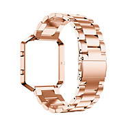 Zwart / roze / Goud / Zilver Roestvast staal / Metaal Klassieke gesp Voor Fitbit Horloge 23mm