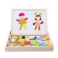 træ børn stave le magnetisk dobbeltsidet tegnebrættet puslespil magi bord
