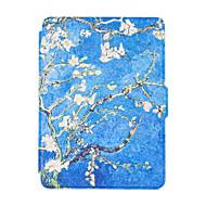 Para el nuevo kindle lector casos elegantes del ebook caso pintado de cuero colorido de la cubierta del tirón multocolor
