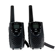 kestävä radiopuhelintoiminto kuuloke jack uhf 462mhz frs / GMRS t667 twin radiopuhelintoiminto lapsille jopa 6 km (1 pari musta)