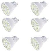 YouOKLight 6PCS GU10 3W  Warm White/White 3000K /6000K 250lm 48-SMD2835 LED Spotlight(AC220V)