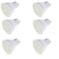 3 GU10 LED Σποτάκια MR16 48 SMD 2835 250 lm Θερμό Λευκό / Ψυχρό Λευκό Διακοσμητικό AC 220-240 V 6 τμχ