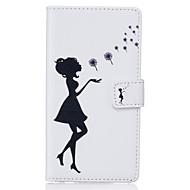 Varten Samsung Galaxy kotelo Korttikotelo / Lomapkko / Tuella / Flip Etui Kokonaan peittävä Etui Seksikäs nainen Pehmeä Tekonahka Samsung