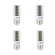 4 pcs BRELONG E14 / G9 / GU10 / E26/E27 / B22 LED Corn Lights 64 SMD 5733 600 lm Warm White / Cool White AC 220-240 V