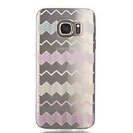 Voor Samsung Galaxy S7 Edge Transparant / Patroon hoesje Achterkantje hoesje Lijnen / golven Zacht TPU SamsungS7 edge / S7 / S6 edge / S6