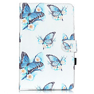 PU Leather Material Butterfly Embossed  Pattern Tablet Sleeve for Galaxy Tab T550/T560