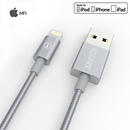 iQunix® MFi Certified Lightning Cable for iphone with Metal Covered Port and Braided Wire